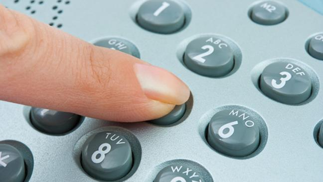 BT landline phone dialling