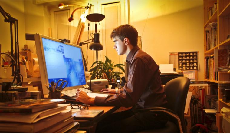 Business broadband home office worker