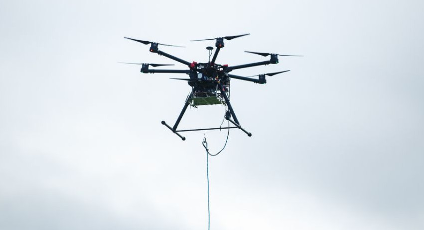 EE drone airmast 4G mobile