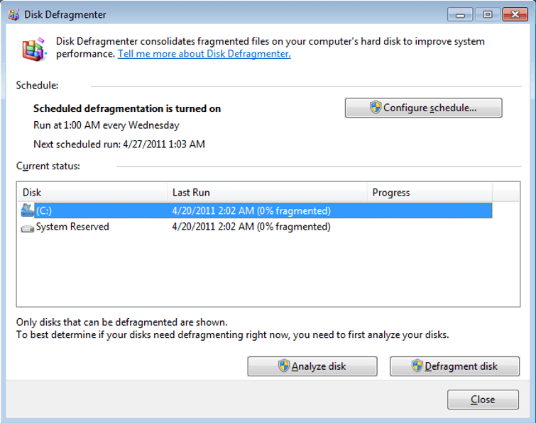 How to declutter: Windows disk defragmenter