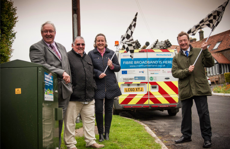 Northumberland broadband iNorthumberland four councillors and van