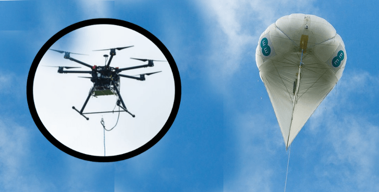 What if I can't get fibre broadband near me? EE drones 4G mobile