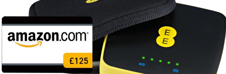 Free £125 Amazon gift card with 16GB 4GEE Mini WiFi